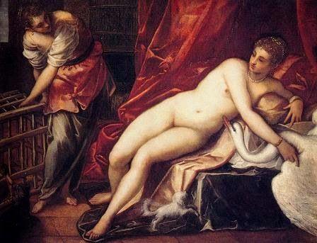 Leda y el cisne. Tintoretto