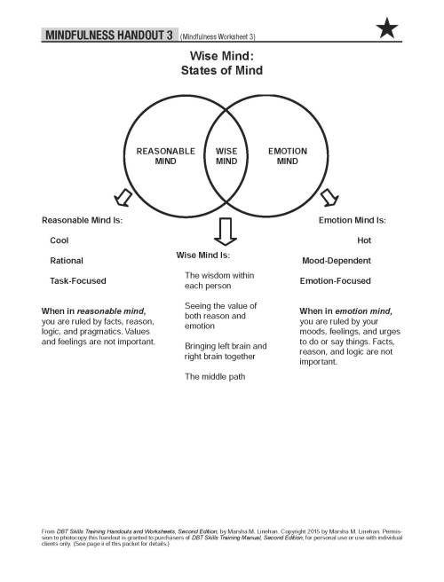 Image Result For Mindfulness Dbt Skills Worksheet With Images