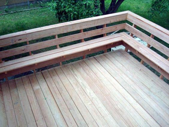 Suitable Porch Railing Height Ontario That Look Beautiful Deck Seating Deck Remodel Diy Deck