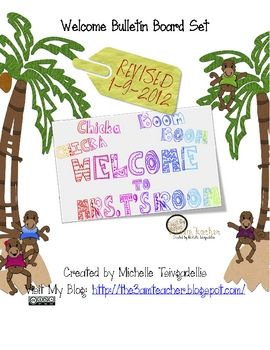 I have put together a welcome bulletin board set that is fully packed and ready to go. This is a really cute monkey themed Chicka- Boom Board: Ch...