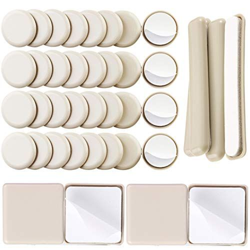 Liyic 40combo Pack Self Stick Carpet Gliders For Chair 32pcs 1 1 4inch Self Adhesive Furniture Glides 4pcs Furniture Gliders Furniture Glides Furniture Sliders