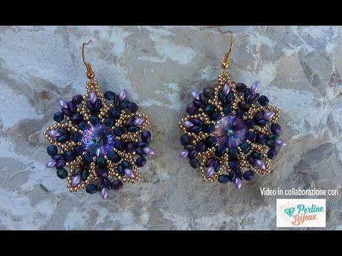 Orecchini Kronos Collaborazione con Perlinebijoux (DIY - Kronos Earrings)… superuomo mattina iris purple