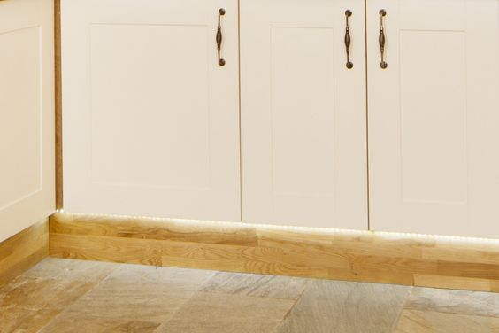 solid oak plinths with custom led under cabinet lighting links the farrows cream painted cabinets cabinet lighting custom