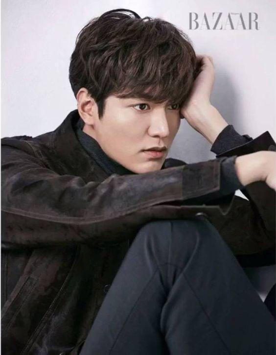 Lee Min Ho posed for Bazaar.