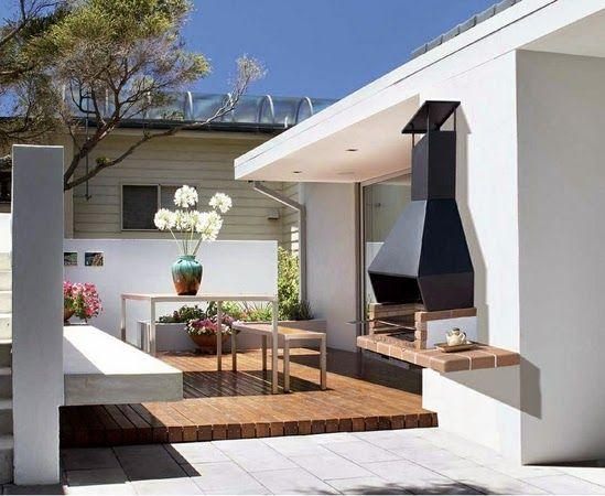 Inspiraci n deco decora tu terraza o jard n con una - Jardin con barbacoa ...