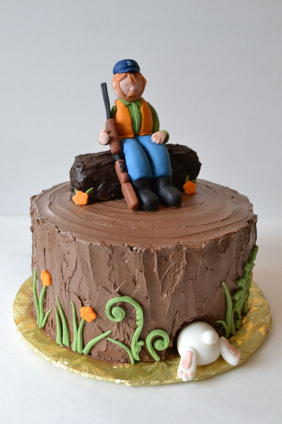 Hunting Themed Birthday Cake Toppers