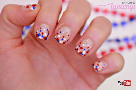 LancenGi: Easy Bubble Memorial Day Nail Art Designs For Short Nails