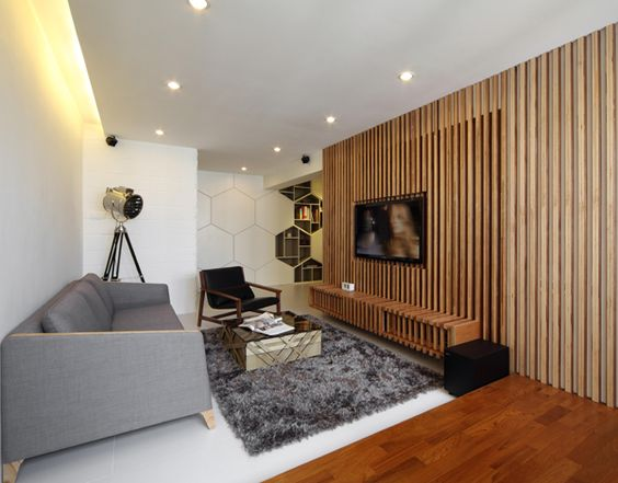 interior vertical wood slats wall - Google Search | Office ...