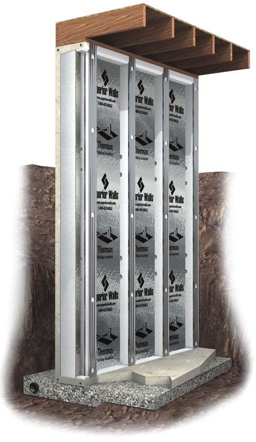 Superior Walls Xi Plus Wall Panels These Precast Concrete Foundation Feature Steel Reinforced And 2 5 Inches Of Dow Styrofoam