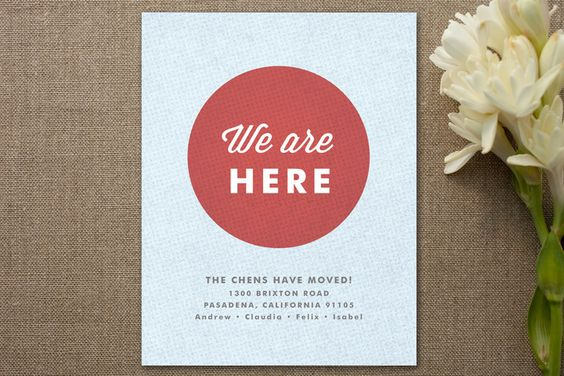 We are Here Moving Announcements by Wondercloud De... | Minted