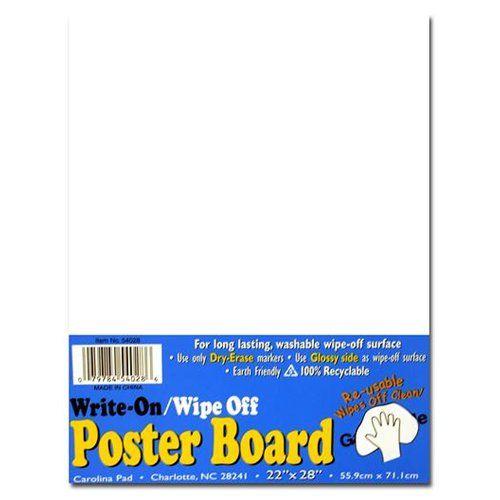 Carolina Pad Write On/Wipe Off Poster Board 22 in. x 28 in.