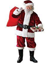 Adult Standard Size Crimson Regency Plush Santa Suit - santa-claus-suits - christmas