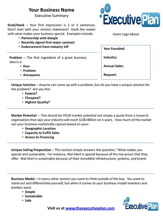 Summary Example Executive Summary Templates Pinterest - executive summary templates