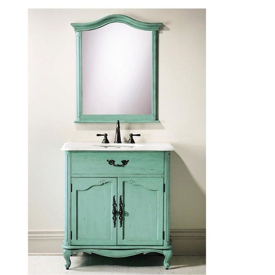 Home Decorators Collection Provence 33 in. W x 22 in. D Single Sink Vanity in…
