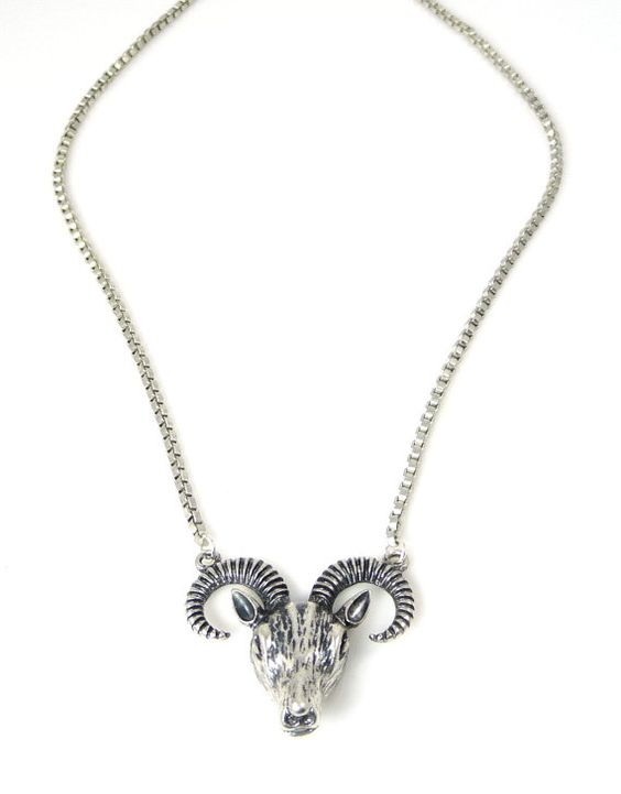 Vintage Silver Rams Head Urban Necklace by IsabellaRaeJewelry, $30.00