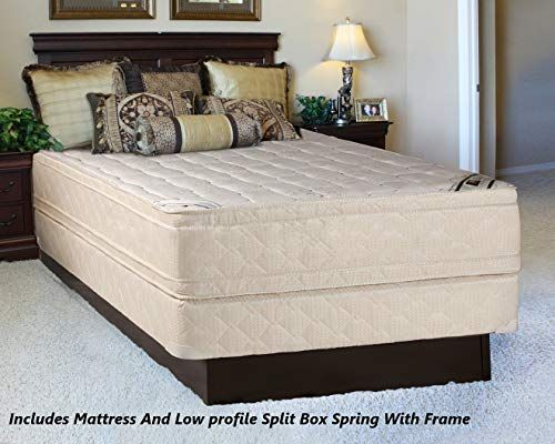 New Mattress Solution 14 Inch Fully Assembled Innerspring Double Sided Mattress 4 Split Box Spring Foundation Set With Frame Extra Pedi Collection California In 2020 Mattress Mattress Buying Mattress Sizes