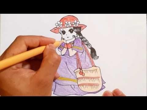 طريقة رسم فتاة للمبتدئين رسم سهل كيفية تلوين فتاة صغيرة تعليم الرسم How To Draw A Girl Youtube Enamel Pins