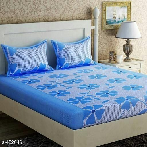 Fabulous Printed Polycotton Double Bedsheets Vol 4 7 Bed Sheets Designer Bed Sheets Pillow Covers