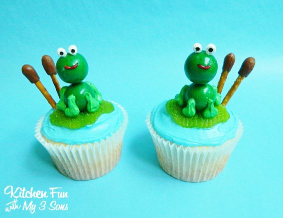 Frog Lily Pad Cupcakes