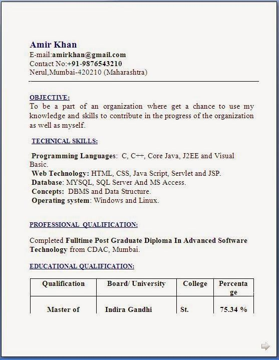 D Pharmacy Resume Format For Fresher Job Resume Format Resume Format Download Resume Format For Freshers