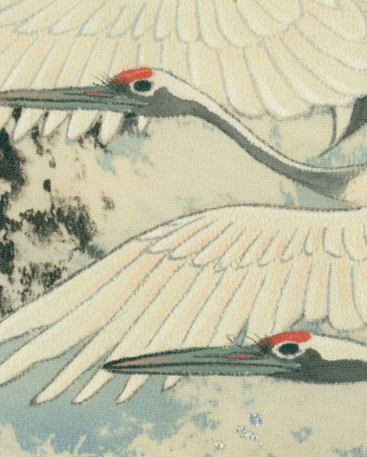 detail of silk Kurotomesode, Early Showa (1927-1940). Yorke Antique Textiles
