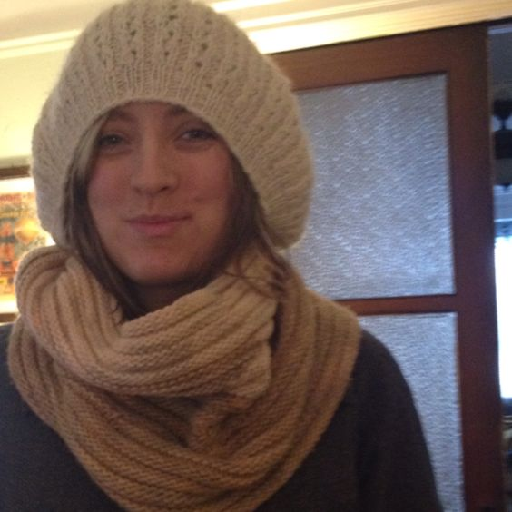 Handmade hat and cowl