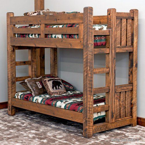 Sawmill Rough Sawn Timber Bunk Bed With Images Rustic Bunk