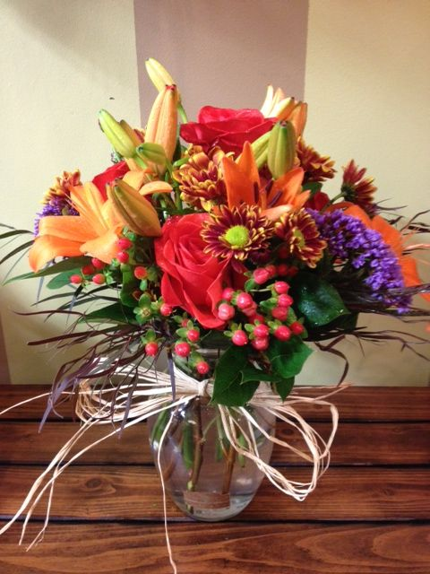 Beautiful Fresh Fall Floral Arrangement Done By Flowers