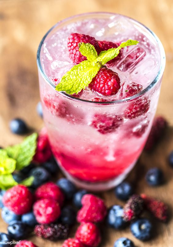 Mixed berry infused water recipe | free image by rawpixel.com