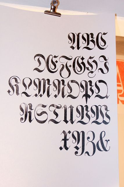Luthersche Fraktur Type Lettering And Calligraphy