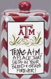 Deck the kitchen out with our Texas A & M kitchen canisters
