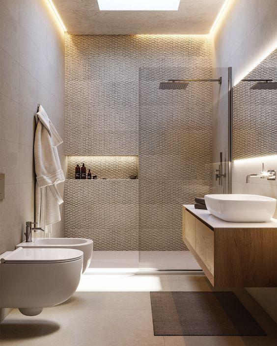 Neutral Unique Bathroom In 2021 Badezimmereinrichtung Modernes Badezimmerdesign Badezimmer Umbau