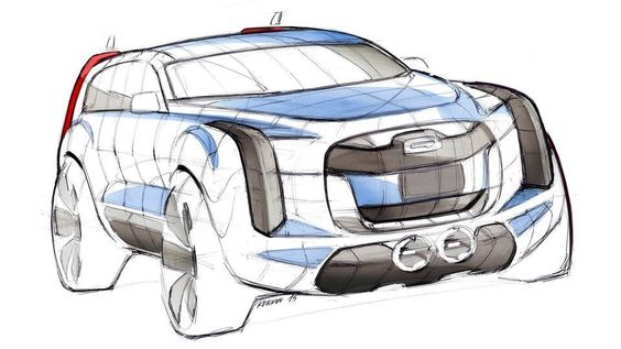 Sergey Konkov. Qoros 5 SUV Sketch