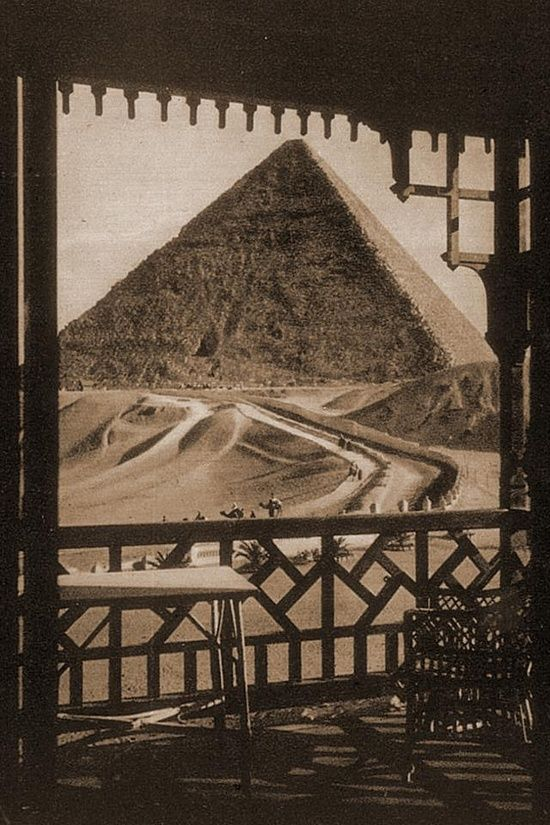 Room with a view?: view from hotel room giza egypt