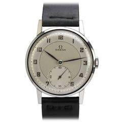 Omega Stainless Steel Calatrava Wristwatch