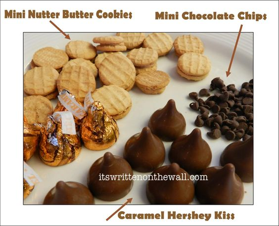 Ingredients for the Acorn Cookies  Let the kids help you with this treat. Halloween and Thankgiving or Fall treat Cookie