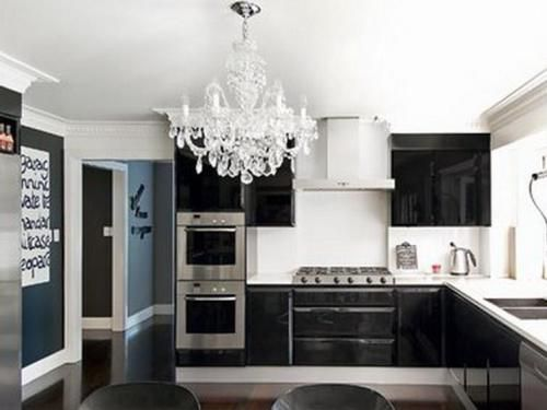 Miraculous White Silver And Black Kitchen Pictures Decor Design