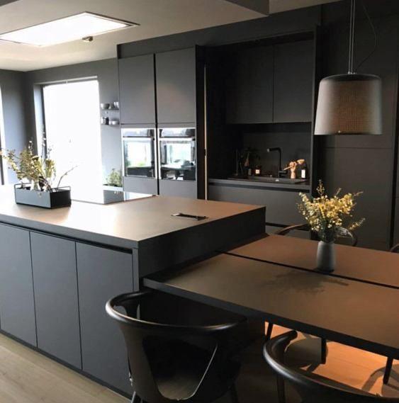 Top 50 Best Black Kitchen Cabinet Ideas Dark Cabinetry Designs Black Kitchen Decor Black Kitchens Black Kitchen Cabinets