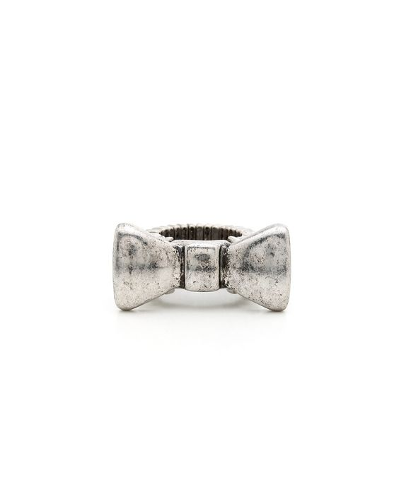 Bowed To Perfection Ring - Antique Silver