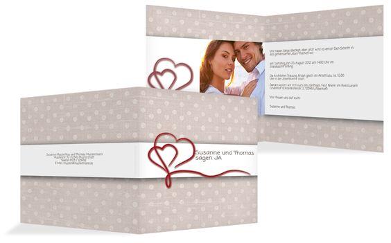 Wunderschöne Einladungskarte zur #Hochzeit    hochzeitskarten-paradies.de