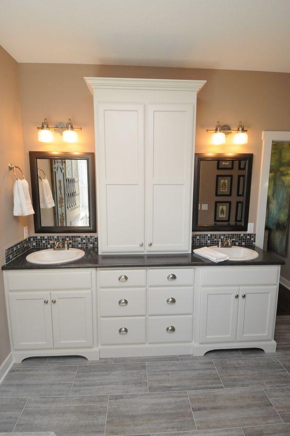 Master Bathroom Vanity Bathroom Vanities And Linen Cabinet On Pinterest