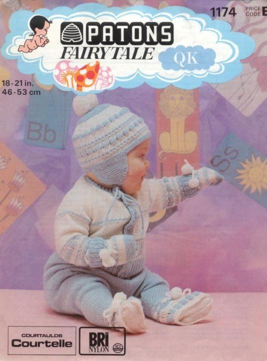 Patons Vintage Child/'s cardigans Knitting Pattern 1174