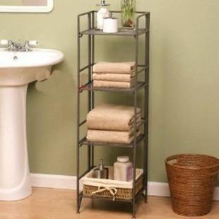 Free Shipping 10 Pcs/Lot Fashion home rustic iron storage rack cabinet towel rack bathroom floor shelf