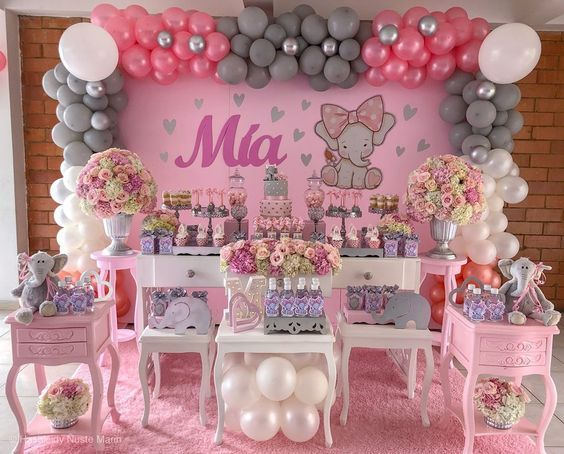 Ideas De Decoracion Baby Shower Nina.Decoracion De Elefantes Para Baby Shower Nina En 2020