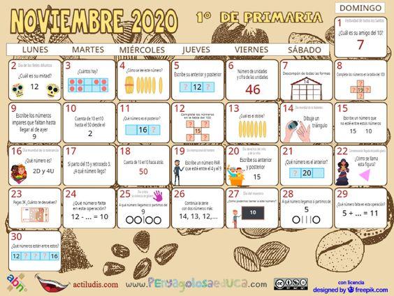 Calendario Primero ABN – Noviembre 2020