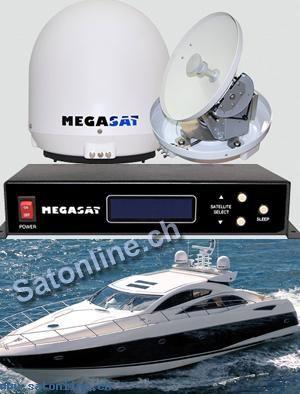 Seaman - Vollautomatische Sat Antenne speziell für Boote und Yachten.