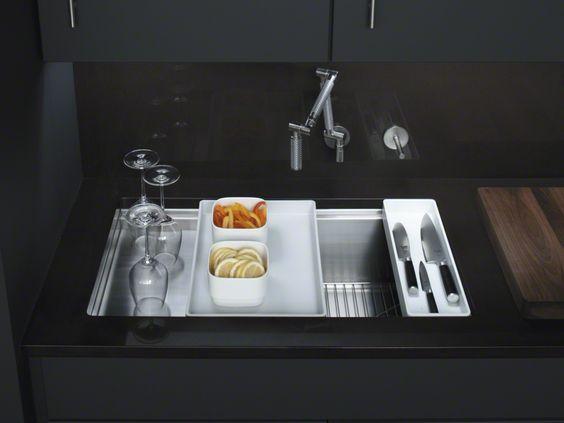 Kohler stages sink - prep area in the sink!! Unusual Plumbing Design ...