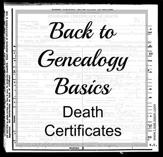 Death certificates can provide valuable information on your ancestor such as a full name, spouse's name, parents' names and more.