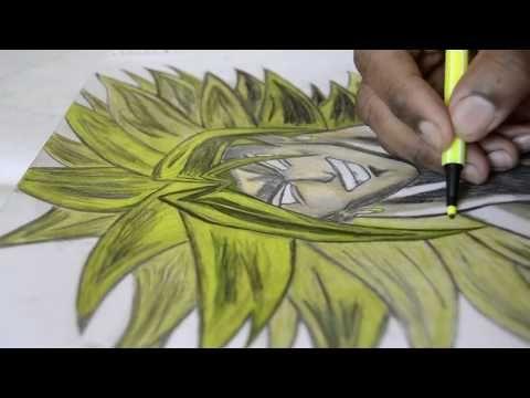 رسم دراغون بول برولي Drawing Dragon Ball Broly Youtube
