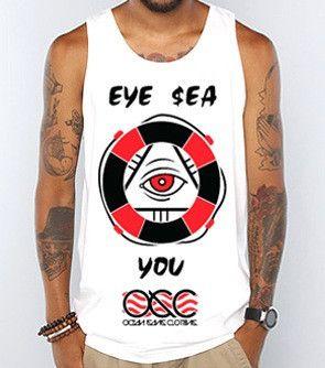 538 Eye $ea You White Tank Top
